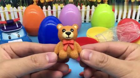 有趣益智:变形警车珀利玩彩蛋玩具奇趣蛋