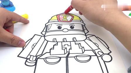 有趣益智:史迪奇画消防员罗伊涂鸦
