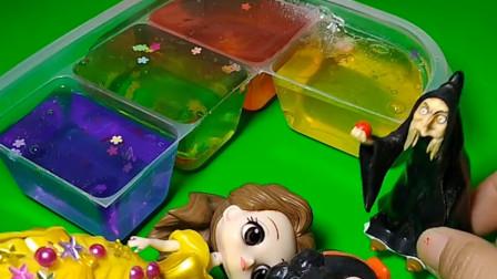 智趣玩具故事:女巫想抓一位公主,没想到白雪贝尔都来了