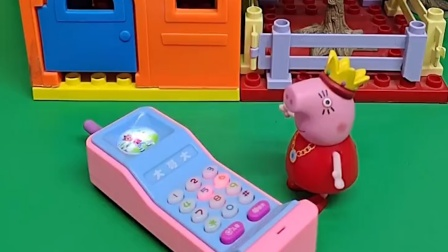 乔治爬到房顶下不来了,妈妈给消防员打电话,顺着梯子他才下来