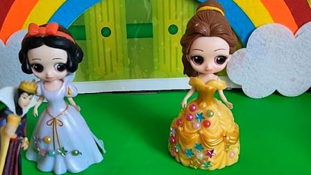 智趣玩具故事:皇后说布丁都没有味道,让白雪贝儿加工一下
