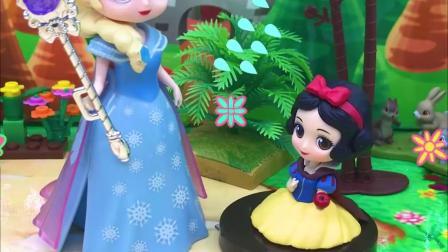 有趣益智:白雪把艾莎公主的魔法棒拿走了,这是怎么回事?