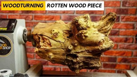强大的车削!大神用一块粗壮的木头制作出木碗