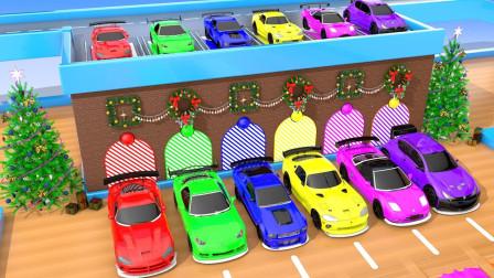 汽车玩具故事:超惊讶!汽车经过颜料池后分别变成什么颜色?