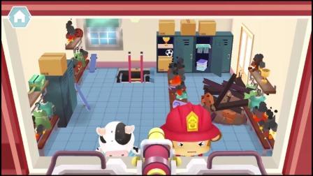 熊猫消防队:大楼里出现火情了!