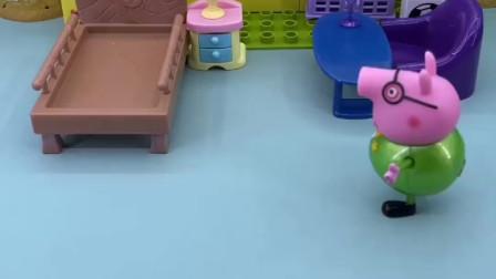 猪爸爸不想陪孩子玩,开始假装睡觉,结果谁也叫不醒!