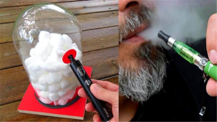 电子烟无害最健康?牛人用棉花模拟肺部,抽一个月到底会怎样?
