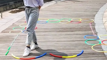 升级版跳房子锻炼孩子肢体节奏感和专注力一起玩起来吧