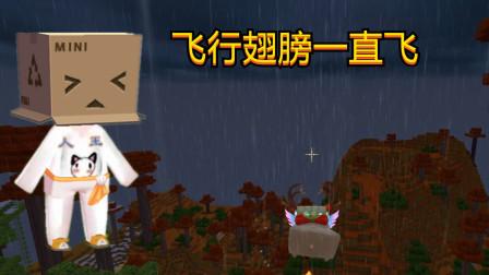 迷你世界:新版本飞行翅膀,人王小哥哥告诉你无限飞,至世界末日