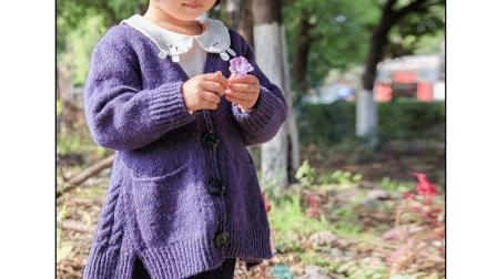 【93中集】可可钩织屋 彩点羊毛儿童韩版开衫编织教程