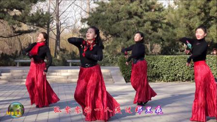 玲珑广场舞《草莓姑娘》,小红领舞,优美舞姿吸引着无数人的目光
