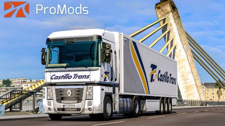 欧洲卡车模拟2 #386:路权?去你的吧 西班牙CastilloTrans公司雷诺马格农   Euro Truck Simulator 2