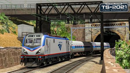 TS2021 华盛顿-巴尔的摩 #4:线路变化?问题不大 准点到达巴尔的摩   Train Simulator 2021