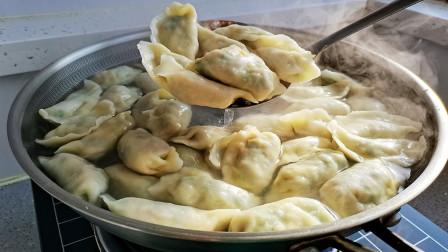 素馅饺子这样做还是头一次,鲜香味美,好吃不腻,洪洋能吃1大盘