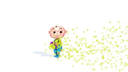 颜色学习小宝宝吹彩色泡泡