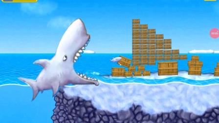 美味深蓝:鲨鱼奋力一跳,其实就是想吃箱子