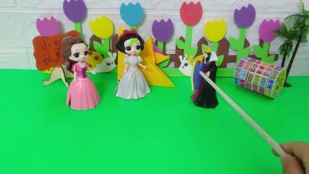 王后想让白雪和贝尔嫁给僵尸,结果僵尸把自己给带走了哈哈哈