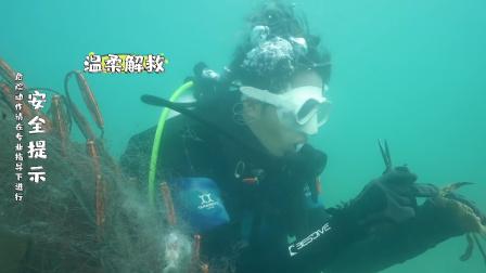 看我的生活:陈学冬海底解救被渔网缠住的螃蟹,十分有爱!