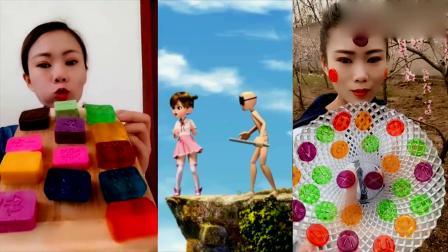 萌姐试吃:果冻糖、彩色字母糖,美味糖果,好玩又好吃