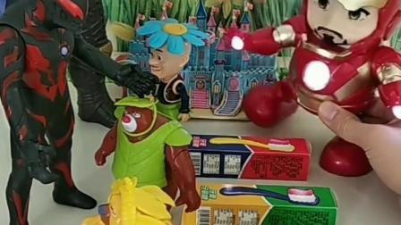 灭霸要抢熊出没的糖果,钢铁侠坚持帮助大家,有奥特曼助力更稳妥!