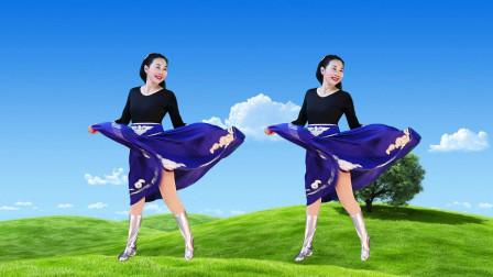 玖月广场舞《鸿雁》正背面演示胡盛原创编舞