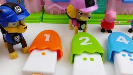 早教益智:乔治吃不上冰棒雪糕了,小猪佩奇和汪汪队都答对了