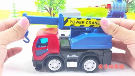 早教益智:儿童工程车玩具车 挖掘机吊车惯性小汽车