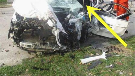 哈弗H6和大货车迎面相撞,看到车损路人诧异:这就是国产销量王?