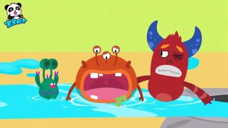宝宝巴士:汗液臭臭有细菌,大家一定要清洗,把细菌都给赶跑
