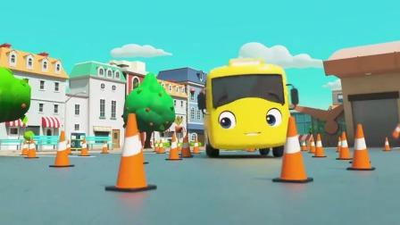 宝宝巴士:看小汽车如何躲避障碍,成功过关有奖励呦