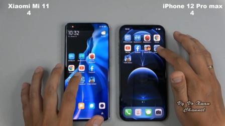 小米11与iPhone12 Pro max性能、拍照对比测试