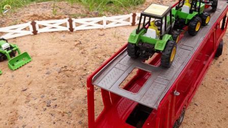 运输大卡车玩具,四轮拖拉机玩具,儿童车辆玩具