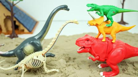 恐龙世界,恐龙多多,恐龙侏罗纪玩具,恐龙大战!
