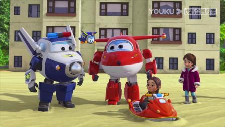 超级飞侠9:警宝变身救生球,和乐迪,包警长救了乔乔
