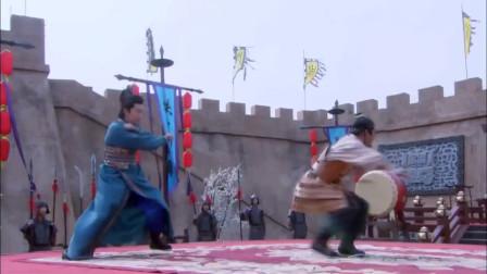 张天霸杀害薛家三百多人,薛刚一招千斤坠坐死张天霸,真解气