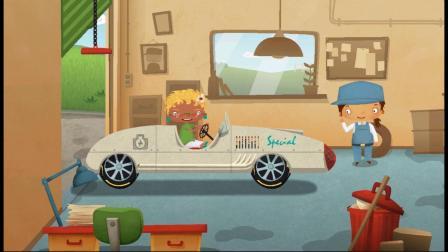 汽车修理厂小游戏,这个跑车好炫酷!
