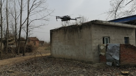 2021年1月16日无人机拍摄下洼村庄视频