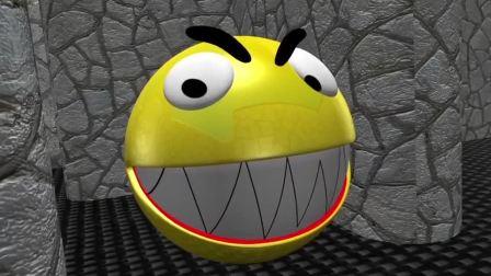 吃豆人游戏:马里奥把迷宫当成他的场景了 还差点给吃豆人吃掉了