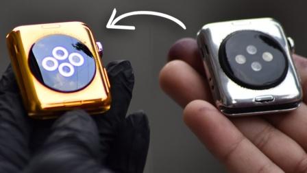 有钱任性!土豪将苹果手表改装成24K金表