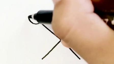 一个叉X教你画爱情鸟#简笔画