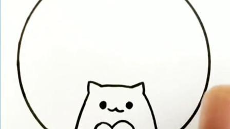 猫猫甜甜圈 #简笔画 #小猫咪