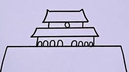 祝大家双节快乐!#国庆节简笔画