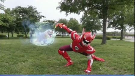 迷你特工队:塞米一招秒杀霸王龙怪物