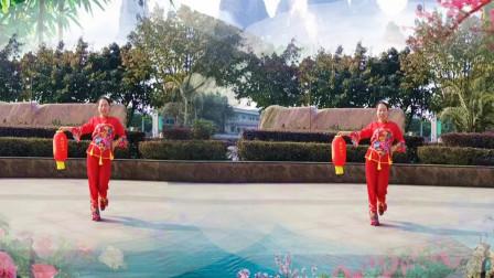 阳春三月乐逍遥广场舞《新年到》新年喜庆欢快灯笼舞
