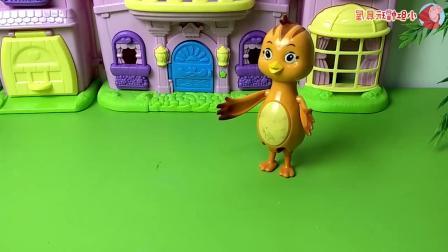 早教益智:小鸡们一人吃下一个糖果,就可以找出谁是怪兽变的!