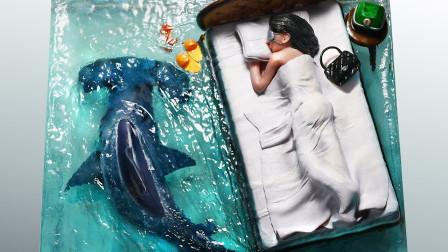 """环氧树脂有多神奇?牛人亲手打造""""睡美人鲨鱼""""!"""