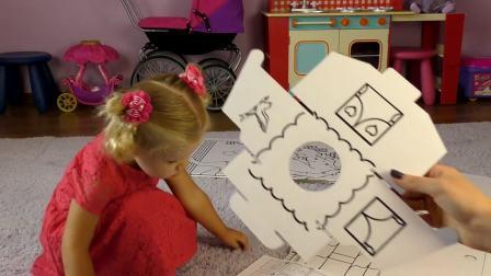 萌娃小可爱收到一个制作的小房子,你知道这是谁的房子吗