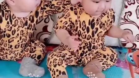 趣味童年:大宝:要不是妈妈说不准打架,我早揍你了!