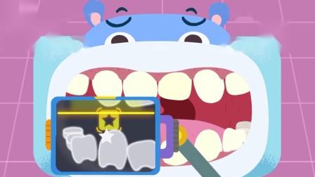 宝宝巴士奇妙救援队:小河马的牙齿好脏,快来给他刷干净吧。