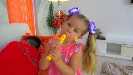开心亲子,戴安娜和爸爸玩玩具,快来看看吧
